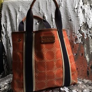Kate Spade canvas and leather handbag